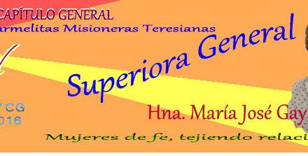 Superiora General de las Carmelitas Misioneras Teresianas