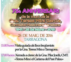 Celebración en Tarragona del 75 Aniversario de la muerte de H. Teresa Mira